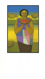 NCA business cards Watermelon Lady